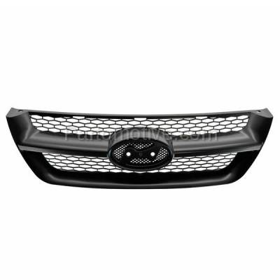 Aftermarket Replacement - GRL-1901C CAPA Front Face Bar Grill Grille Black HY1200141 863503K000 For 06-08 Sonata