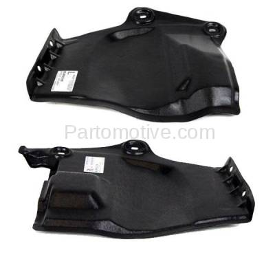 Aftermarket Replacement - ESS-1531L & ESS-1531R 2009-2014 Nissan Murano & 2011-2017 Quest Van Front Outer Engine Under Cover Splash Shield Undercar Guard Plastic PAIR SET Left & Right Side