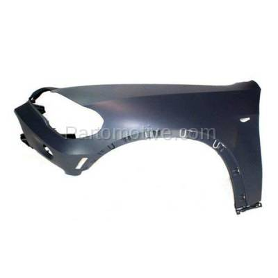 Aftermarket Replacement - FDR-1820L 2007-2010 BMW X5 (Models without Headlight Washer) Front Fender Quarter Panel with Reflector Lamp Hole Left Driver Side