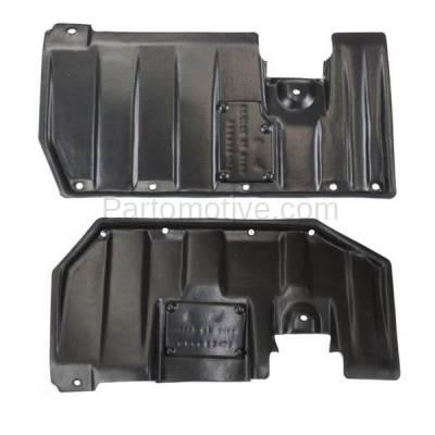 Aftermarket Replacement - ESS-1487L & ESS-1487R 2007-2018 Mitsubishi Outlander & 2011-2018 Outlander Sport, RVR Front Engine Splash Shield Undercar Guard PAIR SET Right & Left Side