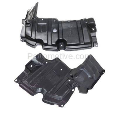 Aftermarket Replacement - ESS-1586L & ESS-1586R 12-15 Prius C Front Engine Splash Shield Under Cover Guard Left & Right SET PAIR