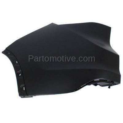 Aftermarket Replacement - BED-1052LC CAPA 2012-2014 Honda CR-V (2.4 Liter Engine) Rear Upper Bumper Cover Face bar Extension End Cap Primed Plastic Left Driver Side