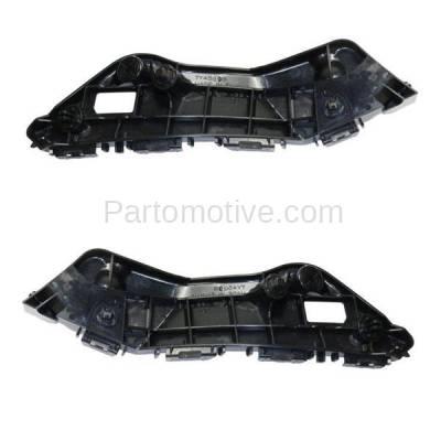 Aftermarket Replacement - BRT-1192FL & BRT-1192FR 2016-2018 Toyota RAV4 Front Bumper Cover Retainer Mounting Brace Reinforcement Support Bracket Plastic PAIR SET Right & Left Side