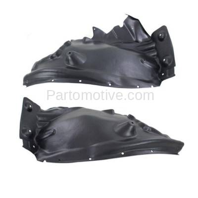Aftermarket Replacement - IFD-1068L & IFD-1068R 2011-2017 BMW X3 & 2015-2018 X4 2.0L/3.0L Front (Rear Section) Splash Shield Inner Fender Liner Panel Plastic Right & Left SET PAIR