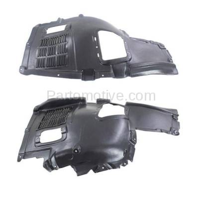 Aftermarket Replacement - IFD-1065L & IFD-1065R 10-17 5-Series Front Upper Splash Shield Inner Fender Liner Left Right SET PAIR
