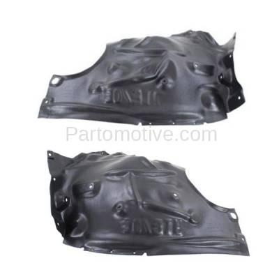 Aftermarket Replacement - IFD-1062L & IFD-1062R 2012-2017 BMW 3-Series (Sedan & Wagon 4-Door) Front (Rear Half) Splash Shield Inner Fender Liner Panel Plastic Left & Right Side SET PAIR