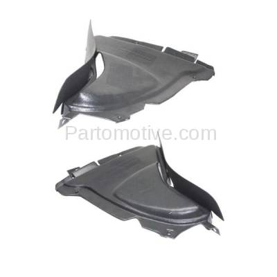 Aftermarket Replacement - IFD-1058L & IFD-1058R 10-17 5-Series Front Splash Shield Inner Fender Liner Panel Left Right SET PAIR