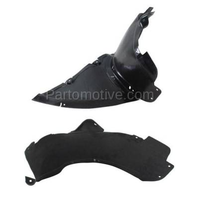 Aftermarket Replacement - IFD-1042L & IFD-1042R 08-15 TT Front Splash Shield Inner Fender Liner Panel Left & Right Side SET PAIR