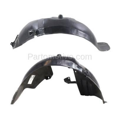 Aftermarket Replacement - IFD-1191L & IFD-1191R 00-02 Nubira Front Splash Shield Inner Fender Liner Panel Left & Right SET PAIR