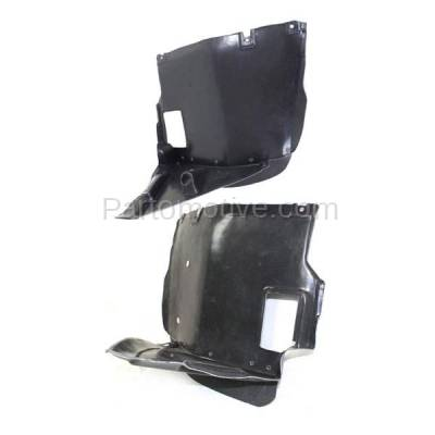 Aftermarket Replacement - IFD-1102L & IFD-1102R 01-06 3-Series Front Splash Shield Inner Fender Liner Panel Left Right SET PAIR