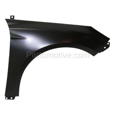 Aftermarket Replacement - FDR-1322R 2012-2018 Ford Focus (1.0L & 2.0L & 2.3L & Electric) Front Fender Quarter Panel (without Molding Holes) Primed Steel Right Passenger Side