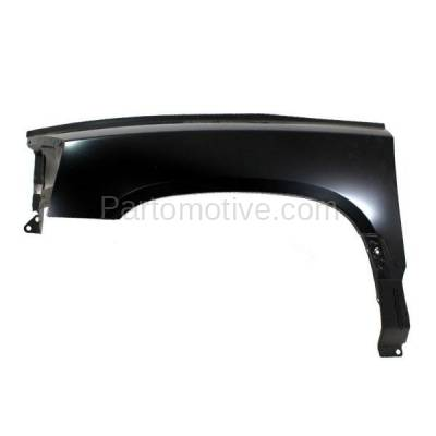 Aftermarket Replacement - FDR-1200L 2005-2007 Dodge Dakota Pickup Truck (V6/V8) Front Fender Quarter Panel (without Molding Holes) Primed Steel Left Driver Side
