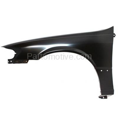 Aftermarket Replacement - FDR-1129L 1997-2001 Toyota Camry (CE, LE, XLE) (USA & Japan Built) Front Fender Quarter Panel (with Molding Holes) Steel Left Driver Side