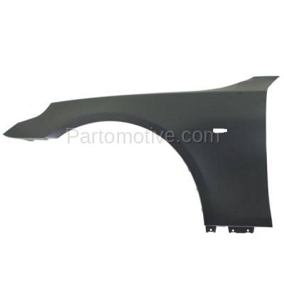Aftermarket Replacement - FDR-1024L 2004-2010 BMW 5-Series (Sedan & Wagon) Front Fender Quarter Panel (without Molding Holes) Primed Steel Left Driver Side