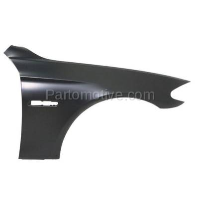 Aftermarket Replacement - FDR-1027R 2011-2016 BMW 5-Series (Sedan 4-Door) Front Fender Quarter Panel (with Molding Holes) Primed Steel Right Passenger Side
