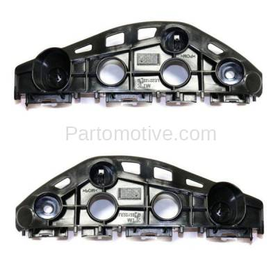 Aftermarket Replacement - BRT-1084FL & BRT-1084FR 13-15 RX350 & RX450h Front Bumper Cover Face Bar Retainer Mounting Brace Reinforcement Support Bracket SET PAIR Right Passenger & Left Driver Side