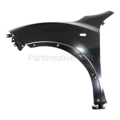 Aftermarket Replacement - FDR-1413L 2011-2012 Nissan Juke (1.6 Liter Turbocharged Engine) Front Fender Quarter Panel (with Turn Signal Lamp and Flare Holes) Steel Left Driver Side