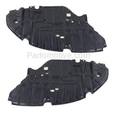 Aftermarket Replacement - ESS-1380L & ESS-1380R 2013-2015 Lexus ES300h & ES350 (2.5 & 3.5 Liter) Front Engine Under Cover Splash Shield Undercar Guard Plastic SET PAIR Right & Left Side