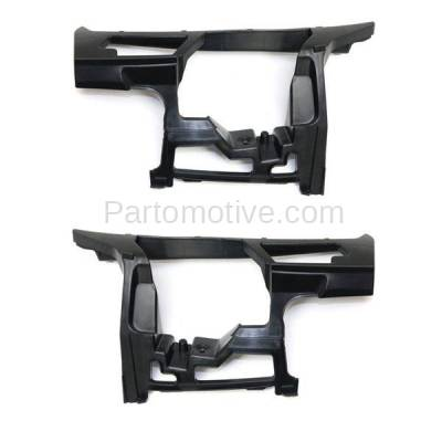 Aftermarket Replacement - BRT-1223FL & BRT-1223FR 10-14 VW Golf & Jetta Front Bumper Cover Face Bar Outer Locating Guide Retainer Mounting Brace Support Bracket SET PAIR Right Passenger & Left Driver Side