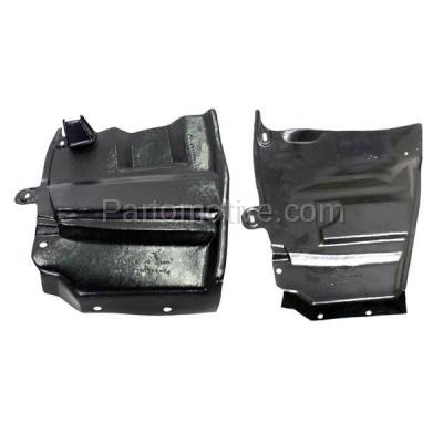 Aftermarket Replacement - ESS-1526L & ESS-1526R Engine Splash Shield Under Cover Undercar For 07-12 Altima Left & Right SET PAIR