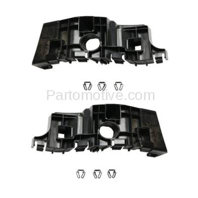 Aftermarket Replacement - BRT-1033FL & BRT-1033FR 14-15 Chevy Silverado 1500 Pickup Truck Front Upper Bumper Cover Retainer Mounting Brace Support Bracket Plastic SET PAIR Right Passenger & Left Driver Side