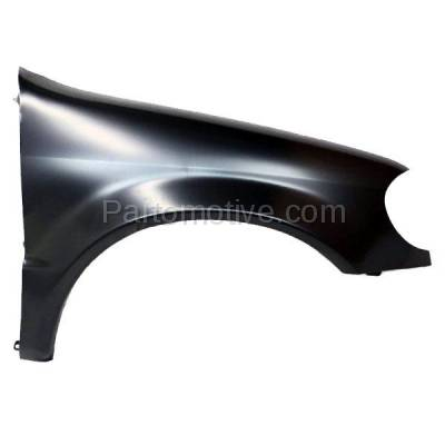 Aftermarket Replacement - FDR-1505R 2002-2005 Mercedes Benz ML-Class (3.2L 3.7L 5.0L 5.4L 5.5L V6/V8 Engine) Front Fender Quarter Panel Primed Steel Right Passenger Side