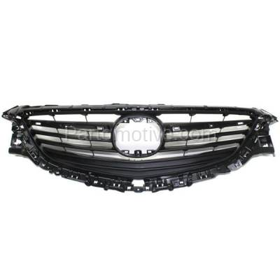 Aftermarket Replacement - GRL-2116C CAPA 14-16 Mazda6 Front Grill Grille Gray Shell/Insert MA1200192 GHP950712E