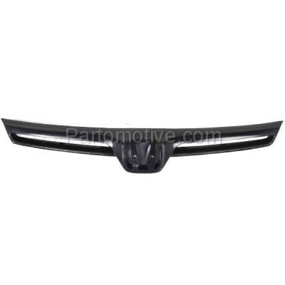Aftermarket Replacement - GRL-1839C CAPA 06 07 08 Civic Coupe Front Grill Grille Black HO1200174 75100SVAA01ZA