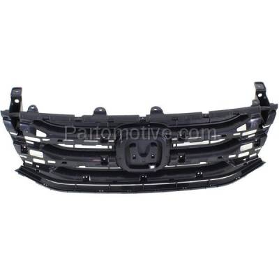 Aftermarket Replacement - GRL-1861C CAPA 11-13 Odyssey Front Face Bar Grill Grille Black HO1200207 75101TK8A01