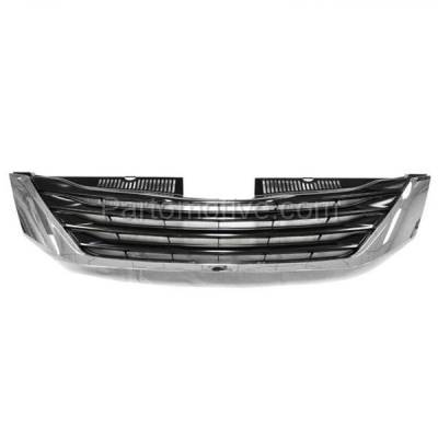 Aftermarket Replacement - GRL-2545C CAPA 11-14 Sienna LE Front Face Bar Grill Grille Chrome TO1200334 5310108080