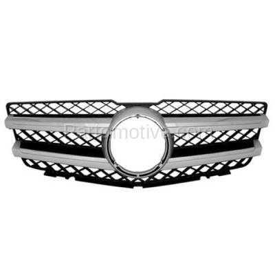 Aftermarket Replacement - GRL-2179C CAPA 10-14 GLK-Class Grill Grille Black/Chrome Trim MB1200161 20488008839776