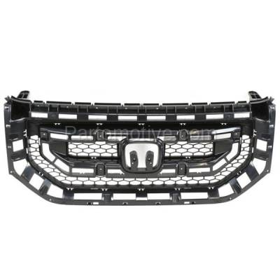 Aftermarket Replacement - GRL-1854C CAPA 09-11 Pilot Front Face Bar Grill Grille Black HO1200200 75101SZAA01ZA