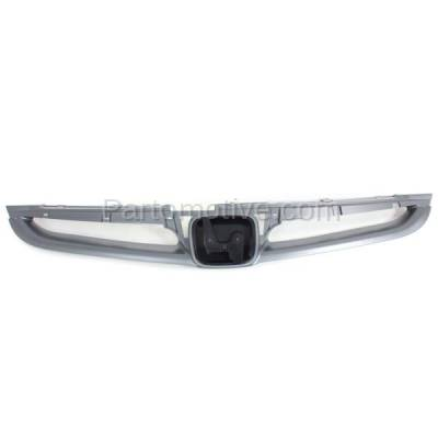 Aftermarket Replacement - GRL-1842C CAPA 06-07 Accord Sedan & Hybrid Front Grill Grille HO1200179 71121SDAA10ZA