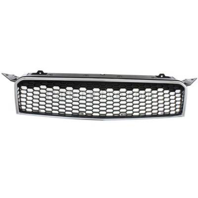 Aftermarket Replacement - GRL-1788C CAPA 09 10 11 Chevy Aveo5 Front Grill Grille Chrome Frame GM1200668 96808248