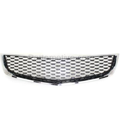 Aftermarket Replacement - GRL-1759C CAPA 10-15 Equinox Front Lower Grill Grille Chrome Black GM1200621 25798747