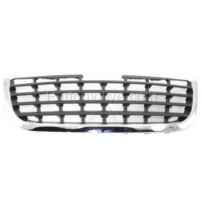 Aftermarket Replacement - GRL-1319C CAPA 08-10 Town&Country Front Grill Grille Chrome w/Black Insert 5113127AA