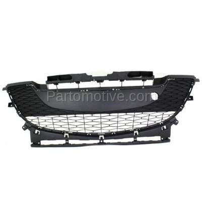 Aftermarket Replacement - GRL-2066C CAPA 10-11 Mazda3 2.0L Front Lower Bumper Grill Grille MA1036112 BBM4501T1H