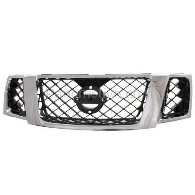 Aftermarket Replacement - GRL-2295C CAPA Front Face Bar Grill Grille NI1200251 62310ZS00A Fits 08-12 Pathfinder