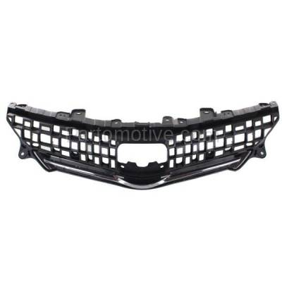 Aftermarket Replacement - GRL-2557C CAPA 12-14 Prius V Front Grill Grille Black/Chrome-Trim TO1200348 5310147010