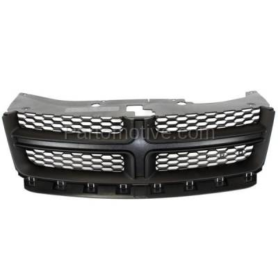 Aftermarket Replacement - GRL-1334C CAPA 11-14 Avenger Front Grill Grille Black Shell w/Gray Insert 68102307AC