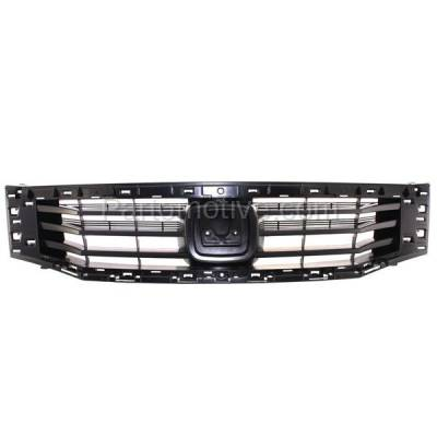 Aftermarket Replacement - GRL-1847C CAPA 08 09 10 Accord Sedan Front Face Bar Grill Grille HO1200189 71121TA0A00