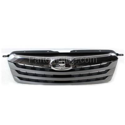 Aftermarket Replacement - GRL-2339C CAPA 10 11 12 Outback Front Grill Grille Chrome/Silver SU1200143 91121AJ04B