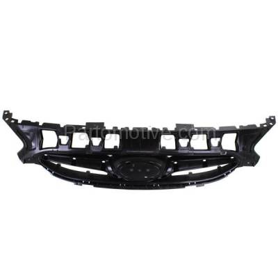 Aftermarket Replacement - GRL-1915C CAPA Front Face Bar Grill Grille Black HY1200161 863511R000 For 12-14 Accent