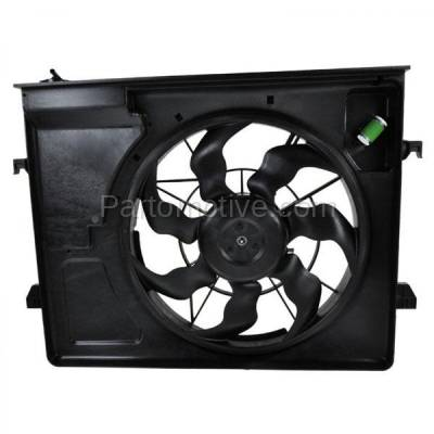 TYC - FMA-1314TY TYC Radiator AC A/C Condenser Cooling Fan Motor Assy Fits 10-13 Forte Auto Trans