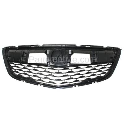 Aftermarket Replacement - GRL-1178C CAPA 14-16 MDX Front Face Bar Grill Grille Dark Gray AC1200121 75101TZ5A01