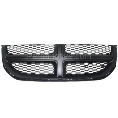 Aftermarket Replacement - GRL-1329C CAPA 11-15 Grand Caravan Front Grill Grille Black Shell & Insert 68100689AC