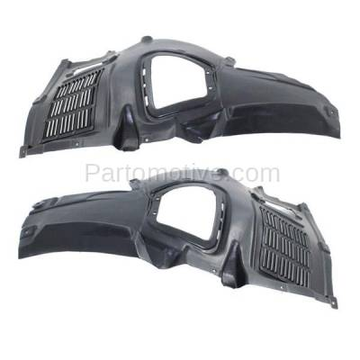 Aftermarket Replacement - IFD-1075L & IFD-1075R 11-16 5-Series Front Splash Shield Inner Fender Liner Panel Left Right SET PAIR