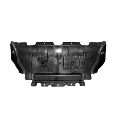 Aftermarket Replacement - ESS-1089C 2011-2019 Dodge Durango & Jeep Grand Cherokee (3.6 Liter V6) Front Engine Under Cover Splash Shield Undercar Air Deflector (Unpainted) Plastic