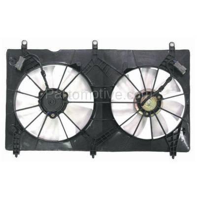 TYC - FMA-1223TY TYC 03-07 Accord 2.4L Valeo Dual Radiator A/C Condenser Cooling Fan Motor Assy