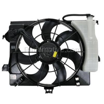 TYC - FMA-1260TY TYC 2012 Accent, Veloster 11-12 Rio Radiator AC Condenser Cooling Fan Motor Assy